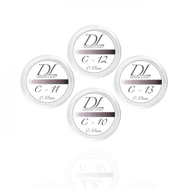Deluxe Lashes Blakstienos SILKY SMOOTH 0.18mm